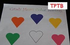Teaching about Colors for Valentine's Day! -  Pinned by @PediaStaff – Please Visit http://ht.ly/63sNt for all our pediatric therapy pins
