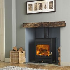 Ideas For Wood Burning Stove Living Room Fireplace Inserts - Home Decor Wood Burner Stove, Wood Burner Fireplace, Inglenook Fireplace, Home Fireplace, Living Room With Fireplace, Fireplace Design, My Living Room, Fireplace Ideas, Wood Burning Fireplaces