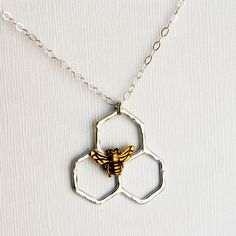 Fab.com | Mini Honeycomb Necklace Silver