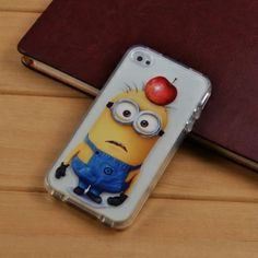 Soft Cartoon Despicable Me Clear Case for Iphone 4 4S TPU Cover i Cell phone Cases iphone4 covers Free shipping $3.50