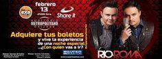 Concierto de Río Roma en Orizaba. 13 de febrero de 2015 en el Auditorio Metropolitano de Orizaba, Veracruz.