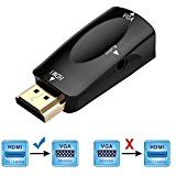 HDMI to VGA Converter Cable Active 1080P HDMI Male to VGA Male D-SUB 15 Pin M/M Video Converter Adapter Support Full 1080P Convert Signal from HDMI Input Laptop HDTV to VGA Output Monitors Projector, TV 1.8m/6ft: Amazon.co.uk: Computers & Accessories