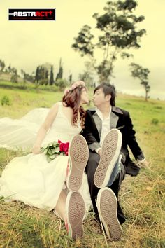 Funny prewedding photography concept. Funny couple.