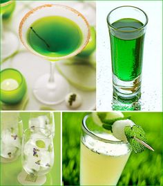 Green drinks of all kinds for your special day