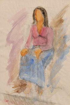 Μοσχίδης Παύλος-Γυναίκα καθήμενη