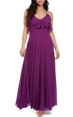 Remi Purple Ruffle Dress via Best Maxi Dresses, Ball Gown Dresses, Tulle Dress, Club Dresses, Bridesmaid Dresses, Wedding Dresses, Everyday Dresses, Pretty Dresses, Purple Maxi
