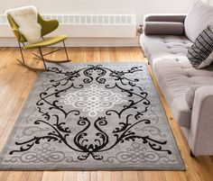 Amazon.com: Zephyr Grey Traditional Oriental Sarouk Medallion Modern Casual Floral 5x7 ( 5' x 7'2'' ) Area Rug Thick Soft Plush Shed Free: Kitchen & Dining