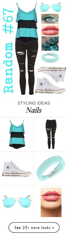 """Random #67"" by americaneagle3297 on Polyvore featuring Swarovski, Topshop, FISICO Cristina Ferrari, LASplash, Converse, women's clothing, women, female, woman and misses"