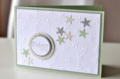 Stamped - and Bettina Maria Stampin Up Christmas, Christmas Diy, Christmas Cards, Cute Cards, Diy Cards, Silhouette Cameo Freebies, Star Cards, Scrapbooking, Stamping Up