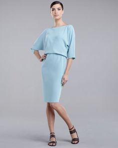 Blue wedding dress: St. John Collection Blouson Dress