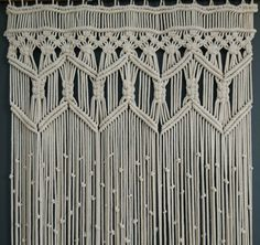 Arte de fibra colgante de Macrame grande colgante por KnotSquared