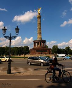 It is pretty hard to bike through Tiergarten, without stopping for a few minutes to admire the shiny Berlin Victory Column also known as Siegessaule. Designed to commemorate the Prussian victory in the Danish-Prussian War, the viewing platform on top is the perfect spot to admire the beauty of this city. Eccentric, Statue Of Liberty, Victorious, Places Ive Been, Berlin, Germany, City, Danish, Building
