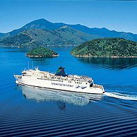 Ferry from Wellington to Picton, North to South Islands, New Zealand