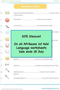 Afrikaans Add Language workbooks - Grade 3 to 8 Grade 3, Afrikaans, Language, Ads, Language Arts, Afrikaans Language