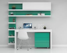 Most Popular Study Table Designs and Children's Chairs Today Small Home Offices, Home Office Desks, Home Office Furniture, Furniture Design, Study Table Designs, Study Room Design, Bookshelves In Bedroom, Desk Inspiration, Boys Bedroom Decor