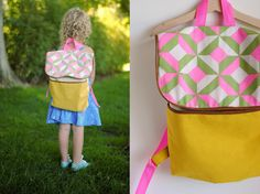 Your child will love wearing this DIY pattern backpack to school in the fall. The bag is cute and perfect for organizing all of their supplies.