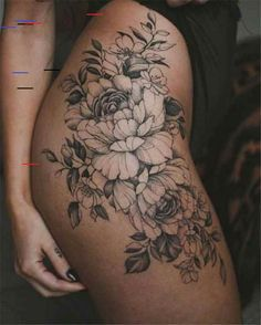 50 Tempting And Attractive High Thigh Floral Tattoo Designs For You - Page 14 of. - 50 Tempting And Attractive High Thigh Floral Tattoo Designs For You – Page 14 of 50 – Chic Host - Mini Tattoos, Flower Hip Tattoos, Hip Thigh Tattoos, Floral Thigh Tattoos, Hip Tattoos Women, Thigh Tattoo Designs, Tattoo Designs For Women, Sexy Tattoos, Body Art Tattoos
