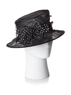 Giovannio Women's Hat with Bow, Black/Ivory
