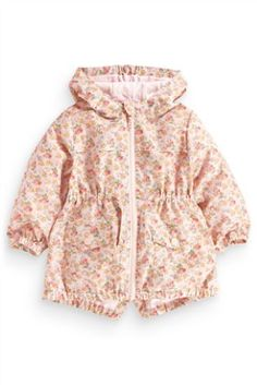 Buy Pink Ditsy Cagoule from the Next UK online shop Next Clothing Kids, Latest Fashion For Women, Mens Fashion, Ditsy, Next Uk, Little Girls, Kids Outfits, Rain Jacket, Fur Coat