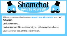 A conversation between Levi Ackerman and Nurse! Jean Kirschstein