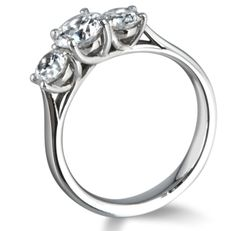 Trilogy cross over diamond ring by www.diamondsandrings.co.uk