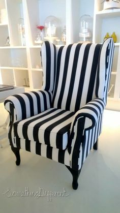 Something Different   Something Desired   furniture black and white wingback
