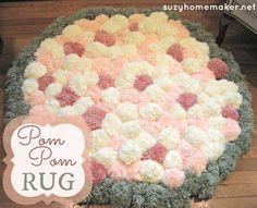 A tutorial explaining how to make a pom pom rug and what equipment to use.