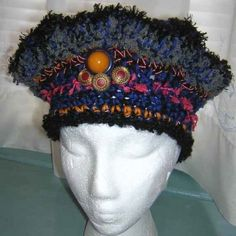 Check this site out for 100 hats that will create a sensation! (From the cute to the bizarre!) novelty yarn crochet hat 400x400 100 Unique Crochet Hats