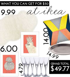 What You Can Get For $50 At Ikea | theglitterguide.com