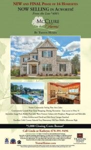 In our beautiful Acworth community, McClure Farms, the final phase is now open and selling.
