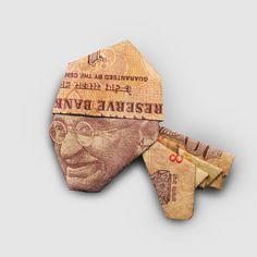 Money origami  /  Street gang Gandhi