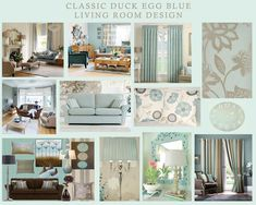 interior decorating ideas with duck egg grey as base colour - Google Search