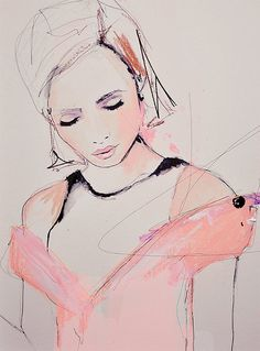 Fashion Illustration Art Print by Leigh Viner  A by LeighViner