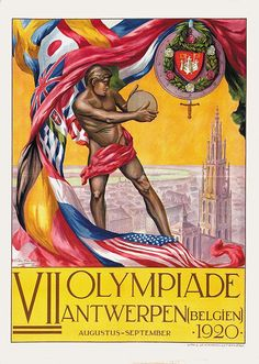 1928 IX Olympiade Amsterdam Vintage Style Olympic Sports Poster 20x30