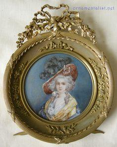 1780 miniature of Marie Antoinette Lady in Waiting