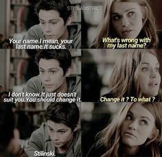 Ahahahha i need a guy like Stiles!