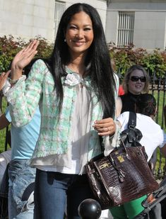 Have you seen photos of Kimora Lee's closet? Talk about dream world. And now this brown crocodile Birkin will haunt my dreams as well.