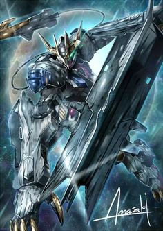 Gundam 00, Gundam Wing, Mikazuki Augus, Barbatos Lupus Rex, Blood Orphans, Gundam Iron Blooded Orphans, Gundam Astray, Gundam Wallpapers, Gundam Mobile Suit