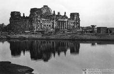 Berlin, Germany, 1946. View of the Reichstag in ruins.