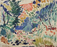 Henri Matisse (Fr. 1869-1954), Paysage à Collioure, huile sur toile,1905, The Museum of Modern Art, New York