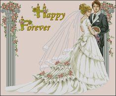 """Сачать схему вышивки """"Happy Wedding"""""""