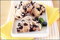 Hungry Girl's Iced Blueberry Scones