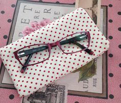 Spectacle Case Spotted Fabric Glasses Case by AwfyBrawJewellery