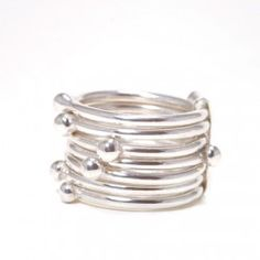 Contemporary Silver Ring #silver #jewellery