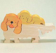 組み木 木のおもちゃ 『遊プラン』 KA772   キャバリエキングチャールズスパニエル・MC