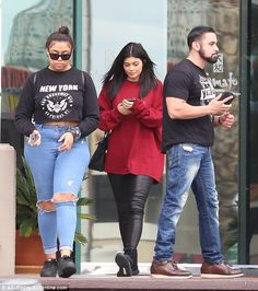 Hanging out: She was joined by her BFF Jordyn Woods