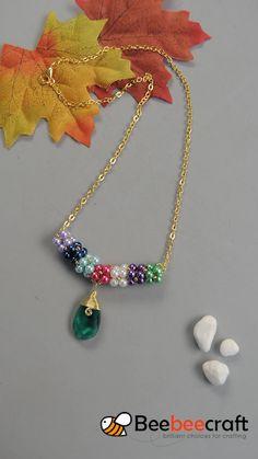 idea on making with beads - DIY Schmuck Ideen Beaded Jewelry Designs, Handmade Beaded Jewelry, Bead Jewellery, Jewlery, Jewelry Necklaces, Bracelet Crafts, Jewelry Crafts, Beaded Bracelets, Bead Jewelry