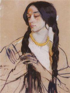Portrait of K. Lancere - Zinaida Serebriakova 1910