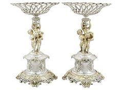 Sterling Silver Centrepieces Antique Victorian 1860 Centerpiece