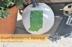 State Silhouette Pumpkin at Keep Calm and Decorate